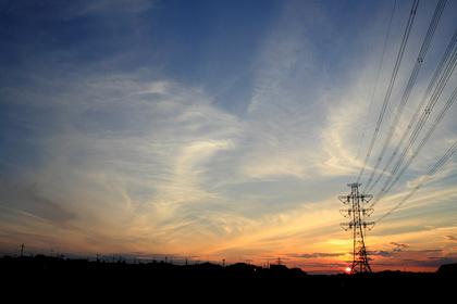 夕焼け 巻雲 日没