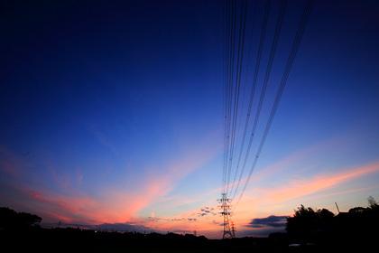 夕焼け 巻雲