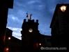 モンテプルチャーノ 冬景色 時計台