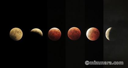 月 皆既月食