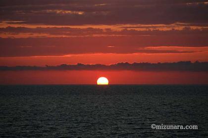 夕日 日本海