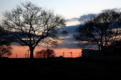 貝塚公園の夕暮れ