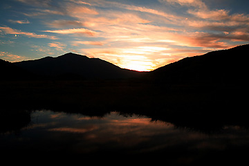 至仏山の夕焼け
