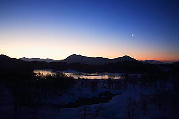 小野川湖の夜明け